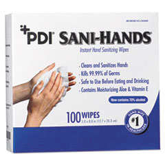 NIC D43600 Sani Professional PDI Sani-Hands Instant Hand Sanitizing Wipes NICD43600
