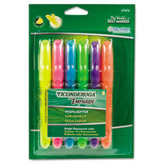 DIX 47076 Ticonderoga Emphasis Desk Style Highlighters DIX47076