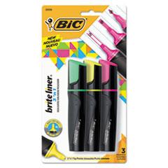 BIC BL3P31AST BIC Brite Liner 3 'n 1 Highlighters BICBL3P31AST