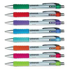 UNV 39725 Universal Comfort Grip Retractable Gel Ink Roller Ball Pen UNV39725