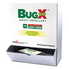SUX CBFD010844BX BugX Insect Repellent Towelettes SUXCBFD010844BX