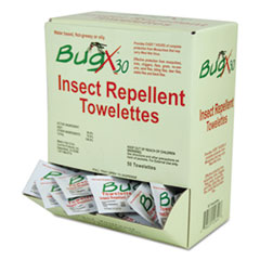 SUX CBXW010644BX BugX Insect Repellent Towelettes SUXCBXW010644BX