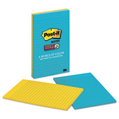 MMM 58452SSNY2 Post-it Notes Super Sticky Pads in New York Colors MMM58452SSNY2