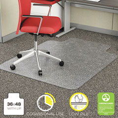 DEF CM11112COM deflecto EconoMat Occasional Use Chair Mat for Commercial Flat Pile Carpeting DEFCM11112COM