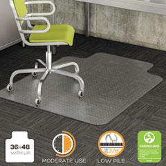 DEF CM13113COM deflecto DuraMat Moderate Use Chair Mat for Low Pile Carpeting DEFCM13113COM