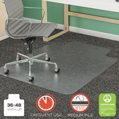 DEF CM14113COM deflecto SuperMat Frequent Use Chair Mat for Medium Pile Carpeting DEFCM14113COM