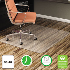 DEF CM2E142 deflecto EconoMat Non-Studded All Day Use Chair Mat for Hard Floors DEFCM2E142