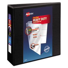 "Heavy-Duty View Binder w/Locking 1-Touch EZD Rings, 3"" Cap, Black"
