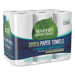 SEV 13731PK Seventh Generation 100% Recycled Paper Towel Rolls SEV13731PK