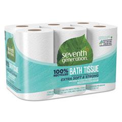 SEV 13733PK Seventh Generation 100% Recycled Bathroom Tissue Rolls SEV13733PK