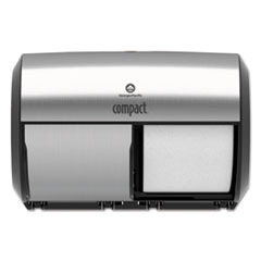 GPC 56796A Georgia Pacific Professional Compact Coreless Side-by-Side Double Roll Tissue Dispenser GPC56796A
