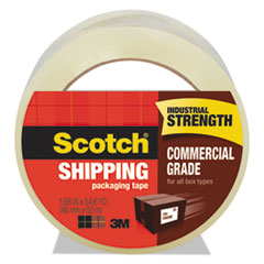 "3750 Commercial Grade Packaging Tape, 1.88"" x 54.6yds, 3"" Core, Clear"