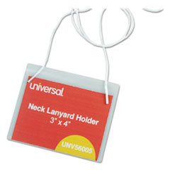 UNV 56005 Universal Clear Badge Holders With Inserts UNV56005