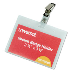 UNV 56006 Universal Clear Badge Holders With Inserts UNV56006