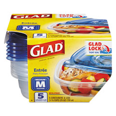 CLO 60795PK Glad Food Storage Containers with Lids CLO60795PK