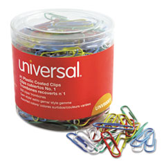 UNV 95001 Universal Plastic-Coated Paper Clips UNV95001