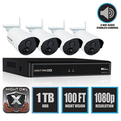 NGT WNVR20144PB Night Owl 4 Channel Wireless Smart Security Hub NGTWNVR20144PB