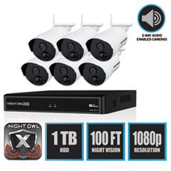 NGT WNVR20188PB Night Owl 8 Channel 1080p Wireless Smart Security Hub NGTWNVR20188PB
