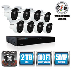 NGT XHD50288PB Night Owl 8 Channel 5 MP Extreme HD Video Security DVR NGTXHD50288PB