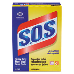 CLO 88320BX S.O.S Steel Wool Soap Pads CLO88320BX