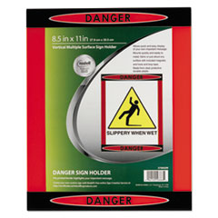 "NUD 37085DR NuDell Themed ""Danger"" Border Sign Holder NUD37085DR"