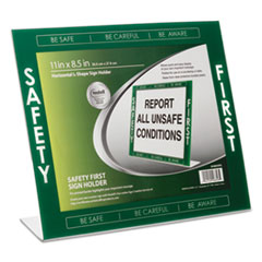 "NUD 35485SFG NuDell Themed ""Safety First"" Border Sign Holder NUD35485SFG"