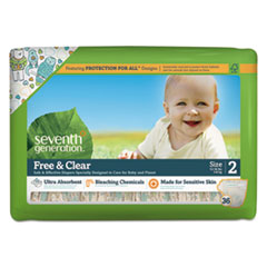 SEV 44061 Seventh Generation Free & Clear Baby Diapers SEV44061