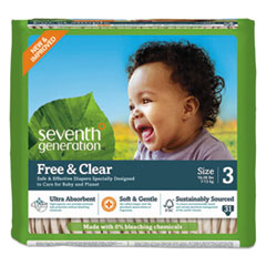SEV 44062 Seventh Generation Free & Clear Baby Diapers SEV44062
