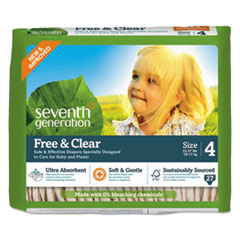 SEV 44063 Seventh Generation Free & Clear Baby Diapers SEV44063