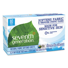 SEV 22787BX Seventh Generation Natural Fabric Softener Sheets SEV22787BX