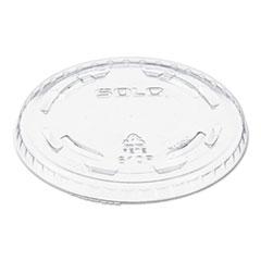 DCC 610TP Dart Polystyrene Plastic Flat Straw-Slot Cold Cup Lids DCC610TP