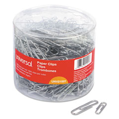 UNV 21001 Universal Plastic-Coated Paper Clips UNV21001