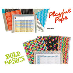 CLI 54610 C-Line Playful Pops and Bold Basics Zip 'N Go Reusable Envelope CLI54610