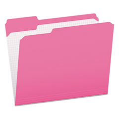 PFX R15213PIN Pendaflex Double-Ply Reinforced Top Tab Colored File Folders PFXR15213PIN