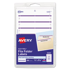 "AVE 05204 Avery Printable 4"" x 6"" - Permanent File Folder Labels AVE05204"