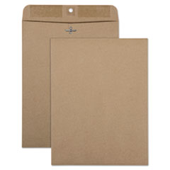 QUA 38711 Quality Park 100% Recycled Brown Kraft Clasp Envelope QUA38711