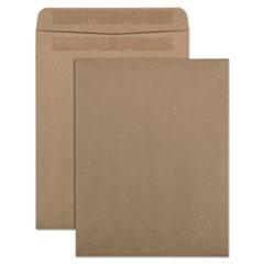 QUA 43711 Quality Park 100% Recycled Brown Kraft Redi-Seal Envelope QUA43711