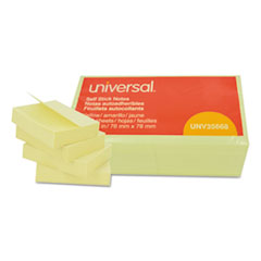 UNV 35668 Universal Self-Stick Note Pads UNV35668