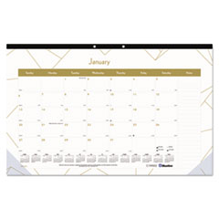 RED C199002 Blueline Gold Collection Monthly Desk Pad REDC199002