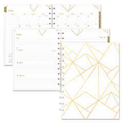 RED CF3200301 Blueline Gold Collection Weekly/Monthly Planner REDCF3200301