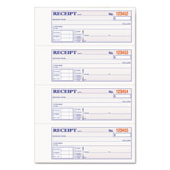 ABF DCH1185 Adams TOPS 2-Part Hardbound Receipt Book ABFDCH1185