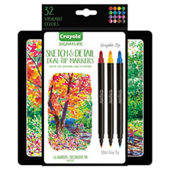 CYO 586511 Crayola Sketch & Detail Dual Ended Markers CYO586511