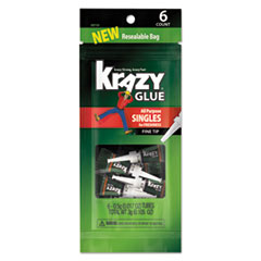 EPI 2027153 Krazy Glue All-Purpose Super Glue Single-Use Tubes EPI2027153