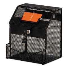 SAF 4238BL Safco Onyx Mesh Collection Box SAF4238BL