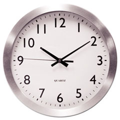 UNV 10425 Universal Brushed Aluminum Wall Clock UNV10425