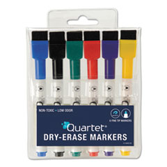 QRT 51659312 Quartet Low-Odor ReWritables Dry Erase Mini-Marker Set QRT51659312