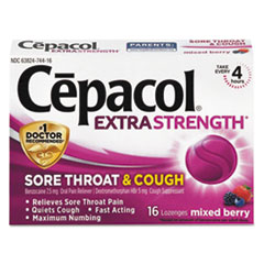 RAC 74016 Cepacol Extra Strength Sore Throat & Cough Lozenges RAC74016