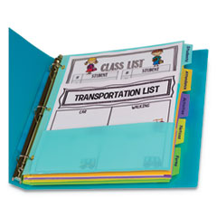 CLI 07650 C-Line 5-Tab Index Dividers with Multi-Pockets CLI07650