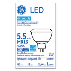 GEL 35542 GE LED MR16 GU5.3 Dimmable Warm White Flood Light GEL35542