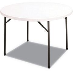 ALE PT48RW Alera Round Plastic Folding Table ALEPT48RW
